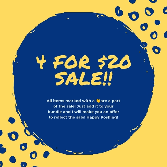 4 for $20 Sale!